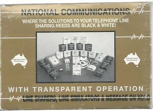 Vintage National Communications Auto Select Line Sharer - Unused Boxed