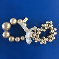 Silver Bead Free Shipping Gift #22 Statement Fashion Bracelet Set 2 Pc Graduated
