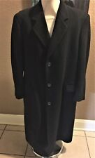 Vintage SILVER CLOUD Imported CASHMERE Italy Bulgaria Black FULL LENGTH COAT R42