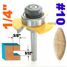 """1 pc 1/4"""" SH Biscuit #10 Slotting 5/32""""x3/8"""" Joint Assembly Router Bit S"""
