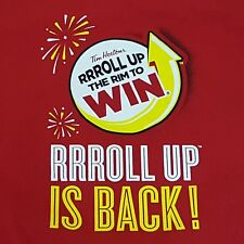 Tim Hortons Mens Size Medium T-Shirt Roll Up the Rim to Win