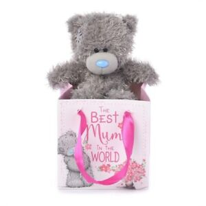 """NEW Me to You Tatty Teddy Bear in Bag """"The Best Mum in the World"""" Mother's Day!"""