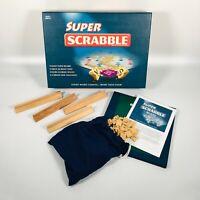 SUPER SCRABBLE Board Game Tinderbox Games Wooden Tiles & Racks - 100% COMPLETE