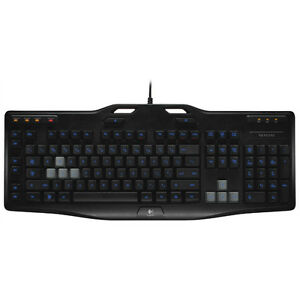 Logitech G105 Gaming Keyboard with Blue LED Backlighting