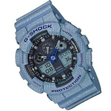 CASIO G-SHOCK GA-100DE-2A Chrono Watch Fashion Denim Color GA100DE-2A
