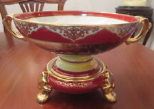 "Rare Antique Noritake 2PC Comport Centrepiece Bowl Red ""M"" Mark 1921-1941"