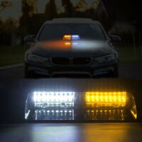 16LED Amber White Car Truck Warning Emergency Strobe Light Flashing Dash Lamp