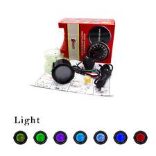 """2"""" 52mm Digital LED Light Boost Gauge Meter 35 Psi Sensor Hose 7 Color for Car"""