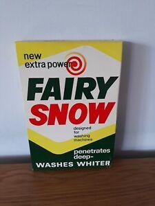 Vintage Unopened New 1lb 14oz Fairy Snow Washing Powder Vintage Box  1960s Prop