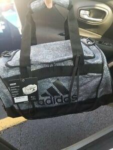 Adidas Defender III Small Duffel Bag Onix Grey Black New Sku 5144036 Gym School