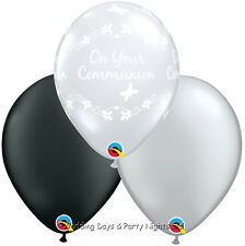 on Your Communion Butterflies Qualatex Diamond Clear 11 Inch Latex Balloons X 5
