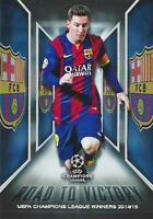 2015-16 Topps UEFA Champions League Showcase 'Road To Victory' Card - Variations