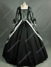 Colonial Renaissance Dark Game of Thrones Gown Steampunk Halloween Costume 164 M