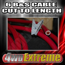1M X 6 B&S 14MM RED CABLE CUT TO LENGTH SUIT DUAL BATTERY INSTALLATION + MORE
