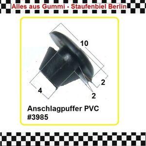 10x Stopfen für Loch 4mm Verschlussstopfen Gummistopfen Stöpsel 3985