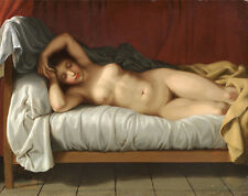 Art Paint Reproduction POSTER Christoffer Wilhelm Eckersberg RECLINING NUDE