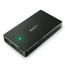 NEW AUKEY 20000mAh Portable Power Bank Charger w/ Lightning and Micro-USB Input