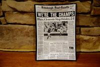 Vintage Trinket Tray 1971 Pirates We're The Champs Pittsburgh Post-Gazette