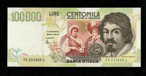 LIRE 100000 CARAVAGGIO II TIPO QFDS