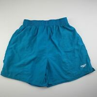 Mens size S, Speedo, blue lined swim / board shorts, drawcord, GUC