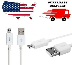 6.6FT EXTRA LONG CHARGING CABLE FAST CHARGER FOR SAMSUNG NOTE 4 5 S6 S7 EDGE LG