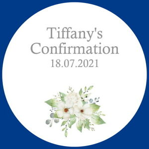 CONFIRMATION GLOSS PERSONALISED CELEBRATION STICKERS FAVOUR COMMUNION LABELS