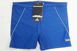 Adidas Swim Beach Boxer Kinder Jungen Bade Hose Short blau Vintage 90's 176 #P89