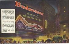 Advertising postcard- Budweiser, Naturama on Broadway & 43rd Street, New York