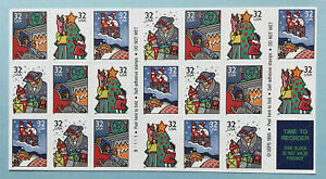 Scott #3113-3116a HOLIDAY GREETINGS Booklet Pane of 20 US 32¢ Stamps  MNH 1996