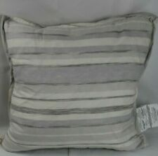 "Ralph Lauren Home Allaire Stripe 18"" Square Decorative Pillow Classic Cream $135"
