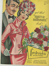Vintage 'Marry-A-Millionaire ' 1964 Frederick'S Of Hollywood Catalog! 519 Hints!