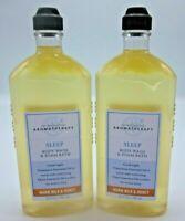 2 Bath & Body Works Body Wash Foam Bath Warm Milk & Honey *ClouDy  See pictures