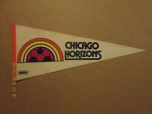 MISL Chicago Horizons Vintage Defunct Circa 1980-81 Logo Soccer Pennant