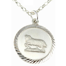 """Aries Sterling Silver Star Sign - The Ram Zodiac Pendant with 18"""" Chain & Box"""