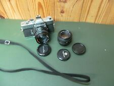 Vintage Minolta SRT201 SLR Film Camera w/ 1:1.4 50mm + MD 1:1.7 49MM