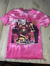Unisex Big Time Rush Pink Small Short Sleeve T Shirt Nickelodeon Boy Band Comedy
