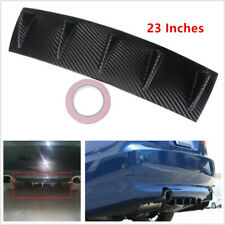 Carbon Fiber ABS Universal Car Shark Fin 5 Wing Lip Diffuser Rear Bumper Chassis