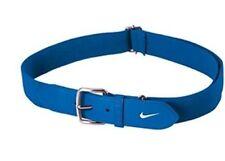 "Nike Adult Leather Baseball Belt Royal Blue & White Adjustable 28"" - 43"" Waist"