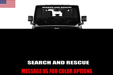 "Jeep SEARCH AND RESCUE Windshield Banner Decal 36"" Sticker FITS ALL JEEPS"