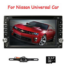 """6.2"""" 2DIN Car Stereo HD DVD Player GPS Bluetooth Radio For Nissan Pathfinder+Cam"""