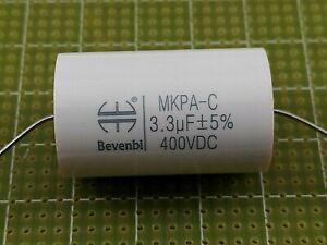 BEVENBI CONDENSATORI 3,3uF 400V MKP POLIPROPILENE METALLIZZATO 5% AUDIO HI END