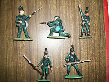 FIVE NICELY PAINTED 54MM NAPOLEONIC BRITISH RIFLEMEN  Lot 2