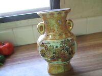 Unmarked Vintage Satsuma Style Moriage Vase Damage Free