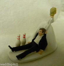 Wedding Party Reception  ~Bowling Pins~ Strike League Game Sports Cake Topper