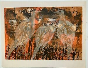 "Howard Bradford Signed Vintage Print Titled ""Three Pheasant"" 1958"