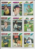 Lot of 11 ~ 1977 Topps Baseball Singles ~ Assorted #'s 78-579 ~ Concepcion, Blue
