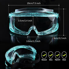 SAFEYEAR Safety Goggles Over Glasses Side Sealed Eye Protective Anti Fog Scratch