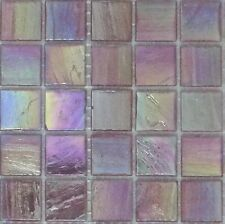 25pcs Bisazza Gloss Pearl Gl 10 Fuchsia Mosaic Tiles 20mm X 4mm