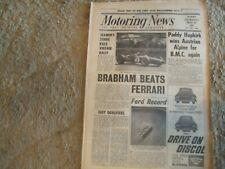 Motoring News 19 May 1966 Austrian Alpine Rally F1 International Trophy Paris GP