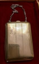 Vintage Baker Manchester Mfg. Co.Sterling Silver Cigarette/Card Dance Purse